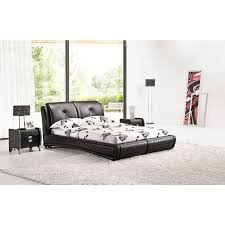 low queen bed frame. Simple Bed Queen Size Low Bed Frame In Black PU Leather For M