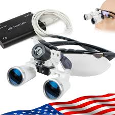 Cheap Dental Loupes With Light Details About Dental Loupes 3 5x320mm Surgical Binocular Optical Glass Led Head Light Dentist