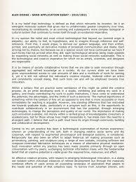 Graduate Admission Essay For Psychology