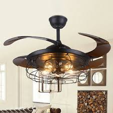 42 semi flush mount ceiling fan reversible blade with 5 light chandelier remote