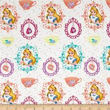153 best Disney Fabric Ideas images on Pinterest   Disney ... & Disney Alice Tea Time Alice and Teacups White from @fabricdotcom Licensed  by… Adamdwight.com