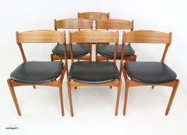 scandinavian table l lovely set six danish teak dining chairs designed by erik buch for