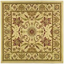 safavieh lyndhurst ivory area rug 8 x 8 square