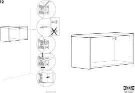 Ikea Instruction Manuals Ikea Storage Furniture Effektiv Wall Cabinet Frame Low 33 1 2 Pdf