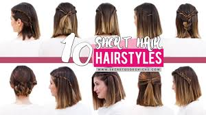 10 Quick And Easy Hairstyles For Short Hair Patry Jordan Youtube