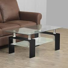 finn two tiered coffee table black