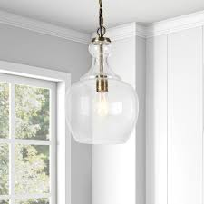 Westford Home Lighting Hudson Canal Westford Brass And Seeded Glass Pendant