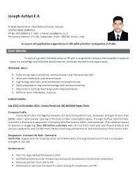 Sample Hr Management Resume Sample Hr Resumes For Hr Executive