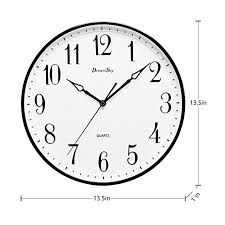 dreamsky 13 1 2 inch extra large wall clock non ticking silent