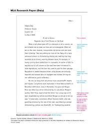Mla Format Research Paper Sample Ceolpub