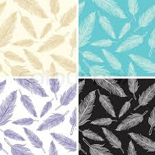 feather patterns set seamless feather patterns stock vector colourbox