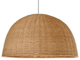 tropical pendant lighting. Wicker Dome Pendant Light, Natural - Tropical Lighting Other By KOUBOO P