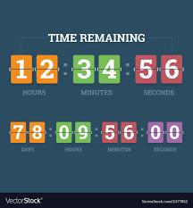 Countdown Mechanical Clock Royalty Free Vector Image