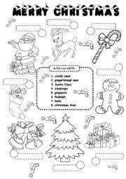 ESL kids worksheets: CHRISTMAS worksheet