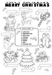 ESL kids worksheets: CHRISTMAS worksheet