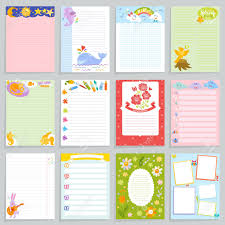 Diary Page Template Kids Diary Vector Childish Notebook Blank And Child Page Template