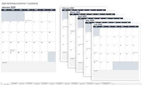 Printable Free Monthly Calendars 15 Free Monthly Calendar Templates Smartsheet