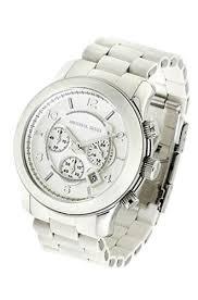 buy michael kors mk8108 white pu oversized mens watch £198 00 michael kors mk8108 white pu oversized mens watch