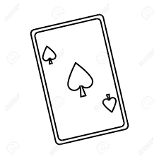 Card Outline Playing Ace Card Poker Icon Casino Betting Leisure Outline Vector