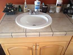 here s my cleared bathroom sink counter