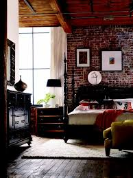 the brick bedroom furniture. the brick walls dark wood floors panel ceilings that gorgeous bed there isnu0027t a thing i donu0027t like bedroom furniture h