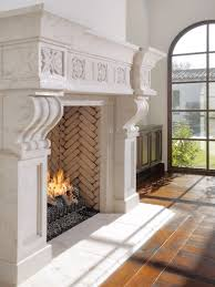 inspiration for a terranean living room remodel in phoenix with a standard fireplace