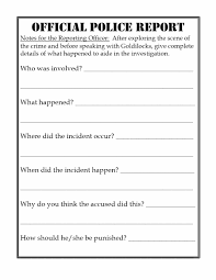 20 Police Report Template Examples Fake Real