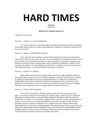 hard times summary spark notes hard times philosophical science