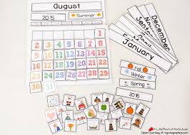 Free Printable School Charts Cute Free Printable Calendar For Circle Time With Kids