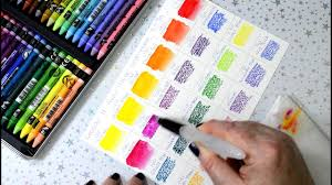 Making Neocolor Ii Colour Swatches Caran Dache Watersoluble Wax Pastels