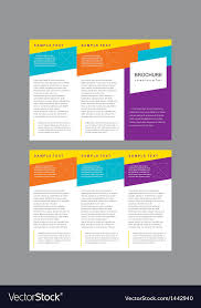 Brochure Trifold Template Free Brochure Tri Fold Layout Design Template