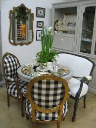 french country with a fresh feel buffalo check chairbuffalo check fabricshabby chic dining