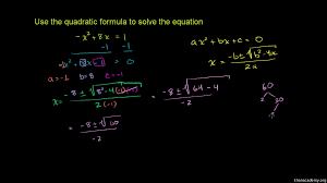solve quadratic equations with the quadratic formula practice khan academy