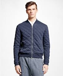 Brooks brothers Quilted Bomber Jacket in Blue for Men | Lyst & Gallery Adamdwight.com