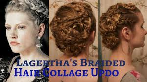 Viking Hairstyle Female vikings lagerthas braided hair collage updo youtube 7366 by wearticles.com