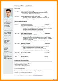 Cv Format Docx A Good Resume Example