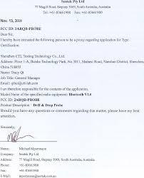 Probe Drill Drop Probe Cover Letter Poa Sentek Pty