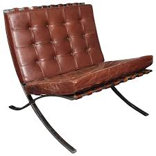 Barcelona Chair Style Brown Leather Barcelona Chair By Ludwig Mies Van Der Rohe For