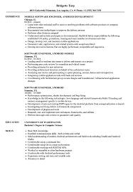 Resume Software Engineer Software Engineer Android Resume Samples Velvet Jobs