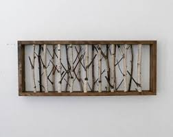 birch wood wall art