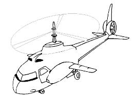 Kleurplaat Helikopter Animaatjesnl