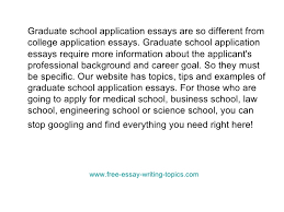 career goal essay for graduate school sample graduate application essay graduate essay