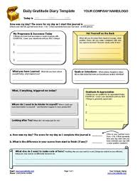 Daily Gratitude Diary Template Dorsey Pinterest Therapy