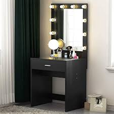 Amazon.com: Tribesigns Vanity Set with Lighted Mirror, Makeup Vanity ...