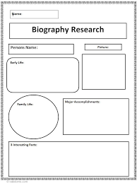 best biography project ideas biography lap biography research graphic organizer