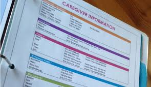 Caregiver Chart A Caregiver Notebook Template Makes Caregiving Easier
