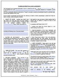 Residential Rental Agreement Florida Template Simple Rental