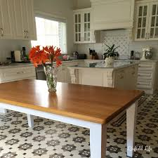 Dining Table In Kitchen Lilyfield Life Dining Table French Kitchen And A Tiled Floor