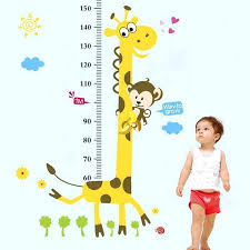 Child Height Chart For Wall Height Wall Decal Caliescali Co