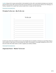 Master To Do List Printable Acepeople Co